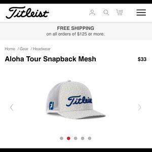 0d4b3388dd2 Titleist Accessories - 🏌 ♀ Titleist Aloha Tour Snap Back Mesh BNWOT